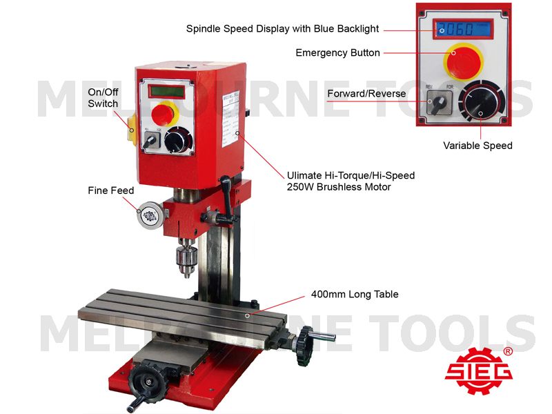 Pleasant Details About Sieg Sx1 P Milling Machine 400Mm X 145Mm Long Table Brushless Hi Torque Motor Pabps2019 Chair Design Images Pabps2019Com